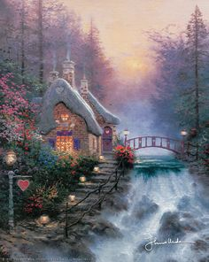 Thomas Kinkade - Sweetheart Cottage II  1992
