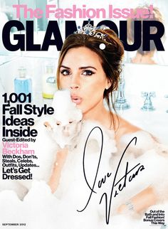 EXCLUSIVE photos from Victoria Beckham's Glamour cover!