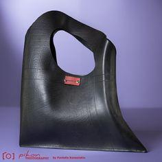 Handmade Rubber Handbag // Inner tube Handbag // Inner tube Shoulder Bag