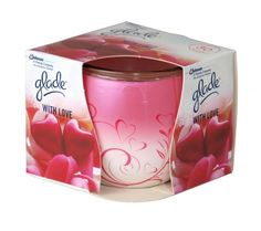 Glade With Love Scented Candle Fragranced candle in glass. Lasts up to 30 hours. Air Freshener, Scented Candles, Health And Beauty, Fragrance, Tableware, Glass, Dinnerware, Drinkware, Tablewares