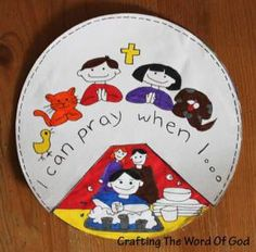 I Can Pray Crafting The Word Of Prayer Crafts Kirchen Preschool Bible
