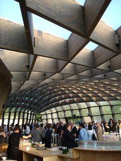 Alvaro Siza and Eduardo Souto de Moura's design for the Serpentine Gallery pavilion in 2005.
