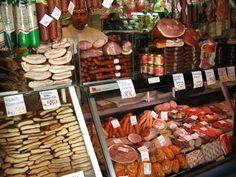 Meat market, Budapest.  Photo by Susan Pogany.
