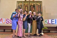 LWF Council members Ms. Colleen Elizabeth Cunningham (Moravian Church in South Africa), Ms. Tiki Malike (The Lutheran Church of Christ in Nigeria), Ms. Mikka McCracken (Evangelical Lutheran Church in Amerca - ELCA), Archbishop Dr Antje Jackelen (Church of Sweden), Ms Jenny Skumsnes Moe (Church of Norway) and Ms Eun-hae Kwon (Lutheran Church in Korea) give thumbs up after completing activities in a local church in Wittenberg. #Day310 until the Twelfth Assembly #Assembly365 #LWFCouncil…