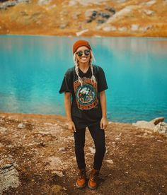 Colorado Wanderoutfit Colorado Wander Outfit, t . Beanie Outfit, Cute Hiking Outfit, Summer Hiking Outfit, Summer Outfits, Camping Outfits For Women Summer, Camp Outfits, Womens Hiking Outfits, Cute Camping Outfits, Hiking Boots Outfit