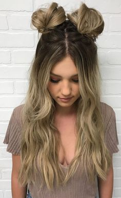 20 photos that prove double bun hairstyles can be challenging . - 20 photos that prove double bun hairstyles can be challenging prove - Cute Bun Hairstyles, Concert Hairstyles, Heatless Hairstyles, Spring Hairstyles, Little Girl Hairstyles, Braided Hairstyles, Wedding Hairstyles, Hairstyle Ideas, Long Hairstyles For Girls
