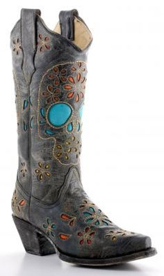 Skull cowboy boots | skull rings | Pinterest | Cowboys, Boots and ...
