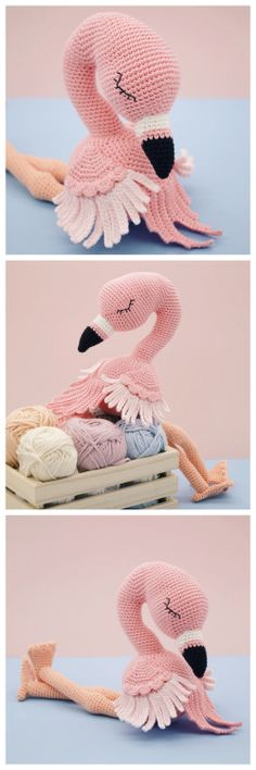 DIY Crochet Amigurumi Flamingo PatternThis pretty crochet...