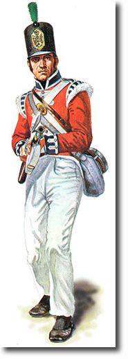 THE THIRD REGIMENT OF FOOT GUARDS (SCOTS GUARDS) SOLDADO DE LA COMPAÑIA LIGERA - 1808. Más en www.elgrancapitan.org/foro