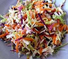 Colorful Coleslaw - this recipe has two dressing options