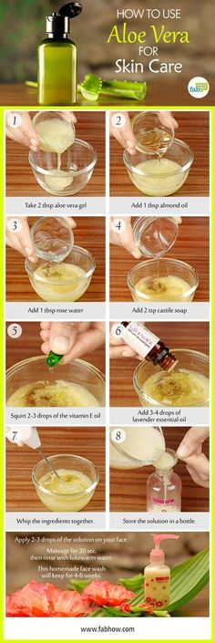 How to Use Aloe Vera to Get Clear, Glowing and Spotless Skin #SkinCareRemedies