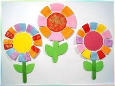 Bunte Pappteller-Blumen zum Muttertag..., Basteln mit Kindern - YouTube