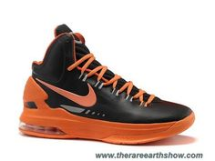 newest fe884 3eadc Authentic Nike Zoom KD V 5 Black Orange Basketball Shoes For Wholesale