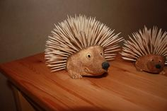 Hedgehog Toothpick Holder - love hedgies, even if they're only made from toothpicks