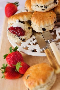 scones and clotted cream by alton brown
