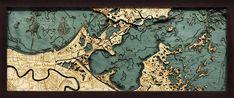 New Orleans   Louisiana Wood Map