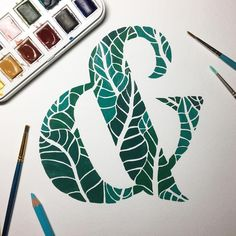 April (@crashboomdesigns) • Instagram photos and videos lettering, doodling, graphic design, typography, ampersand, gouache