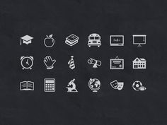 @Tony Thomas updated the Educate Icon set just in time for back to school :) http://medialoot.com/item/educate-icon-set/