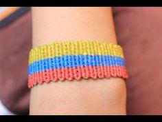 como hacer una pulsera tricolor del mundial 2014 Es.PandaHall.com - YouTube