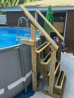 exterior illuminated above ground pool ladder clamps from 3 most wanted above ground pool stairs of the year