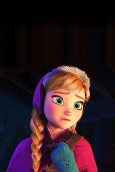 I love Anna! No offense to Elsa, but I love Anna more because I feel like she's one of the only princesses who a normal person could relate to. I mean, she wakes up in the morning looking like a real teenager!