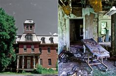 Haunted places are in vogue this time of year, so with Halloween fast approaching, I thought I'd share some of the beautiful yet terrifying abandon. Abandoned Asylums, Abandoned Places, Willard Asylum, Rat King, Upstate New York, Haunted Places, Hospitals, Social Work, Islands