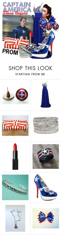 Captain America Prom by summersurf2014 on Polyvore featuring Rupaul, maurices and NARS Cosmetics