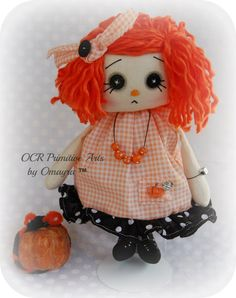 Vivian Collectable OOAk Art Annie Doll by OCRPrimitiveArts on Etsy, $45.00