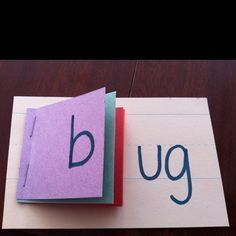 Word family flip books - students are able to spot the differences and similarity in the word families. This would be used in the classroom with students who are struggling with phonemic word families. Toddler Learning Activities, Literacy Activities, Kids Learning, Word Family Activities, Learning To Read Games, Literacy Assessment, Letter Sound Activities, Learning Phonics, Learning Shapes