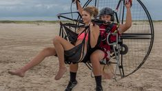 Paramotor Tandem For Kisses!!! Powered Paragliding Hottest Girls With 16...