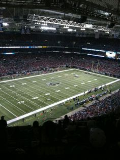 Nice view of the Seahawks beating the Rams!  Edward Jones Dome in St Louis, MO