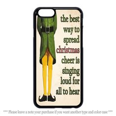 Christmas Elf Quote Cases iPhone 4 4s 5 5s 5c 6 6 plus Samsung Galaxy Case #UnbrandedGeneric