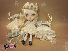 No12 Snow Iceland custom blythe doll by kuloft on Etsy
