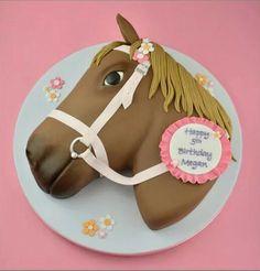 Horse Birthday Cake - Cake by Sandra Monger - CakesDecor Horse Birthday Parties, Birthday Cake Girls, Birthday Cakes, Cowgirl Birthday, 3rd Birthday, Fancy Cakes, Cute Cakes, Animal Cakes For Kids, Beautiful Cakes
