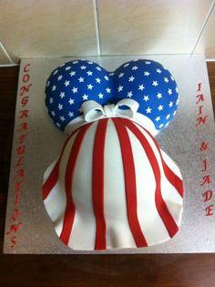 american flag themed baby shower cake