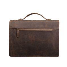 Image of Handmade Vintage Leather Briefcase, Laptop Bag, Messenger Bag 0189