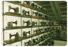 Wall of Sewing Machines