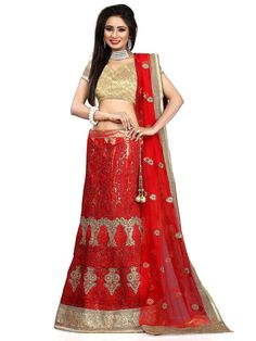 Grand outfit is ready to facelift your personality.  Item code: GLO9301 http://www.bharatplaza.com/new-arrivals/lehengas.html