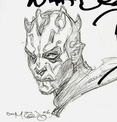 Darth Maul pencil drawings, by his character creator Iain McCaig Darth Maul Wallpaper, Star Wars Wallpaper, Star Wars Poster, Star Wars Art, Darth Vader Tattoo, Nave Star Wars, Star Wars Drawings, Star Wars Girls, Learn Art