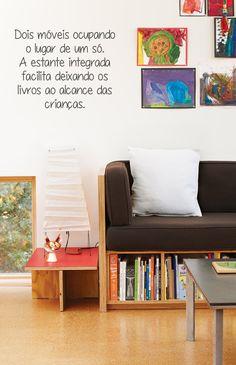 Estante integrada - COPY - Dicas de decoraçao, artesanato, material reciclavel, casas e ideias