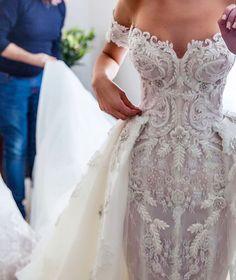 Steven Khalil custom wedding dress
