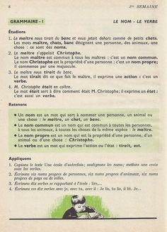 Manuels anciens: 1. La rentrée French Learning Books, Learn French, Grammar, Vocabulary, Learn To Speak French, Learning French