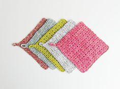 CIJ SALE Crocheted Washcloth Wash ClothGift by ZazaizaHandmade