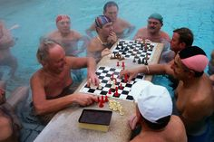 Ha Ha! Maybe these dudes can teach me how to play (water) chess! :)