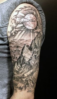 half-sleeve-man-with-mountain-view-tattoo.jpg (376×656)