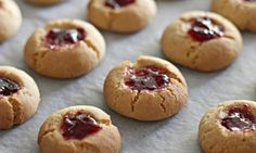 These jam drops are delicious and a great activity for the kids as well. You can make a whole biscuit barrel-full but I doubt they will last long. Choose your favourite jam!