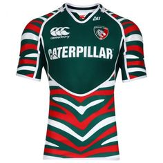 Canterbury Mens Leicester Tigers Home Test Rugby Short Sleeve Top (Eve Leicester Tigers, Tiger Home, Rugby Shorts, Rugby Club, Sports Uniforms, Jersey Boys, Canterbury, Uniform Design, Soccer Jerseys