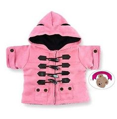 ab5c4436b8e Bear clothes fit build a bear  teddies pink duffle coat  jacket  teddy  clothing