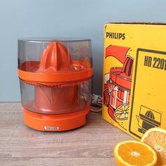 Vintage 70's Philips Electric Citrus Retro Orange by RosieFleur