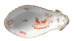 Vecchio Ginori - Galli rossi Shell Pickle Dish from Richard Ginori 1735 in Yardley, PA from Pink Daisy